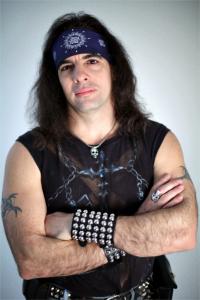 Author Yoss, wearing his heavy metal attire.