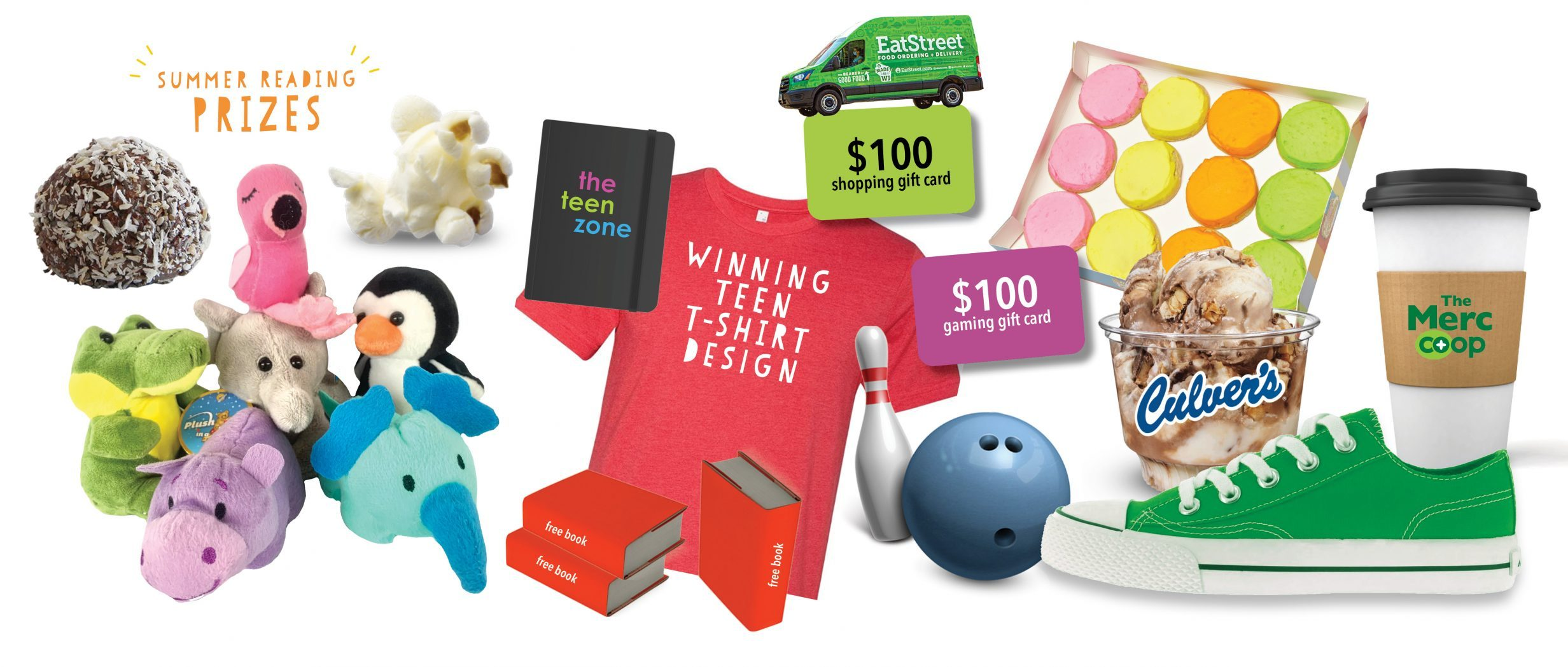 2021 Summer Reading prizes splash