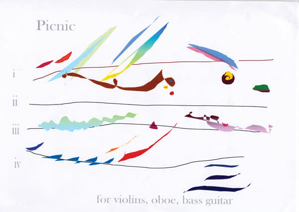 """Graphical notation of Cilla McQueen's """"Picnic"""""""